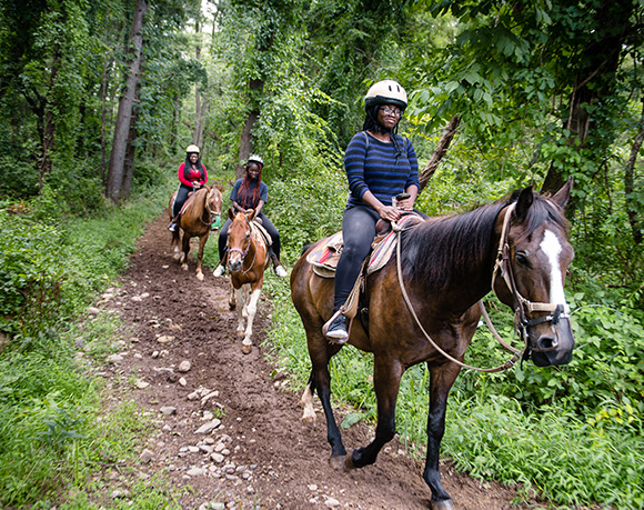 horseback riding near the Poconos